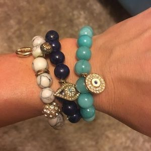 Express beaded and charm bracelets